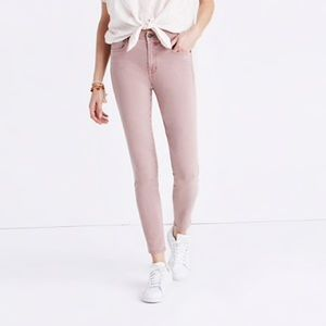 """Madewell 9"""" high-rise skinny crop jeans"""